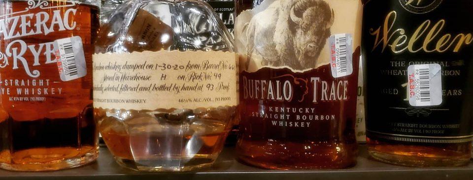 Blanton's, Weller 12, Buffalo Trace, Sazerac Rye